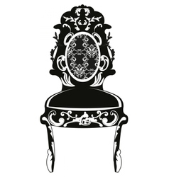 Vintage baroque classic chair vector