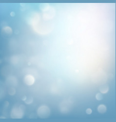winter xmas christmas theme blue glitter bokeh vector image