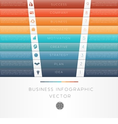 Template infographic colour strips 9 position vector