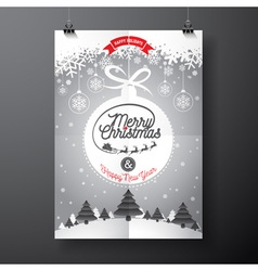 Merry christmas design and winter landscape vector
