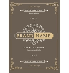 Vintage creative card vector image
