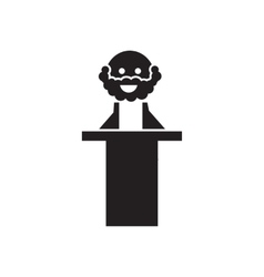Flat icon in black and white judge vector