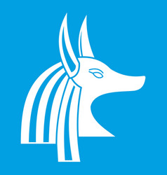 Ancient egyptian god anubis icon white vector