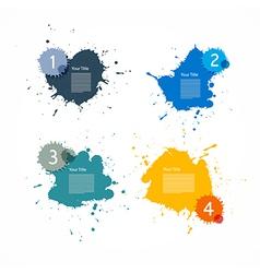 Colorful Splashes Set vector image