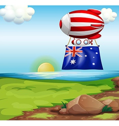 A floating balloon with the flag of Australia vector image