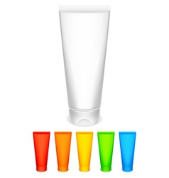 Color tubes of cream vector