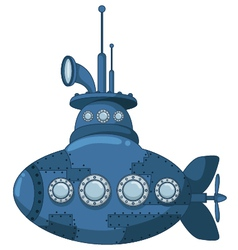 Blue submarine for you design vector