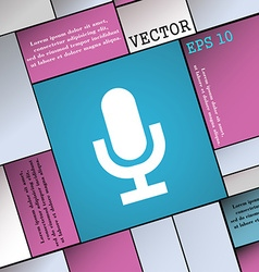 Microphone icon sign modern flat style for your vector