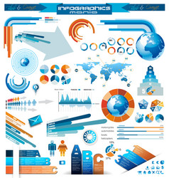 Infographical icons vector