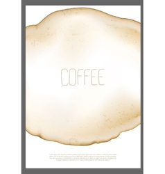 Abstract coffee stain vector image