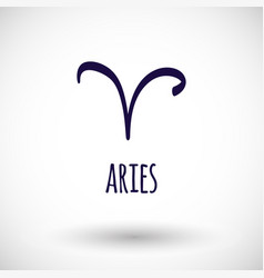 Aries zodiac sign icon vector