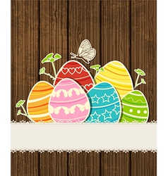 background easter eggs vector image vector image