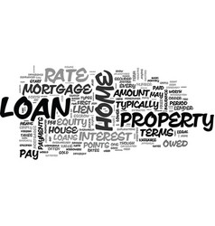 Basic home loan terms explained text word cloud vector