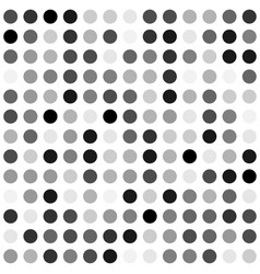 black and white dot background vector image vector image