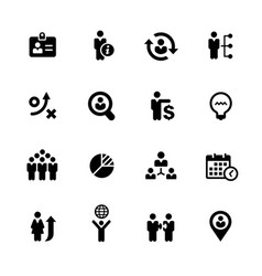 Business efficiency icons vector