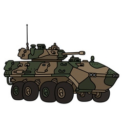 Camouflage armoured vehicle vector