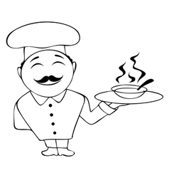 chef icon in vector image vector image