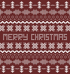 Christmas background with Scandinavian seamless vector image vector image