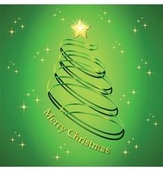 Christmas fir tree silhouette vector image