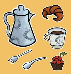 English tea ceremony vector