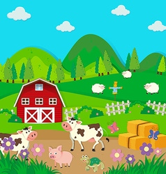 Farm animals living in the farm vector image