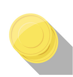 Gold coin stacks on white background vector