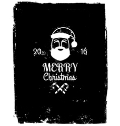 Grunge Christmas Background with Santa Claus vector image vector image