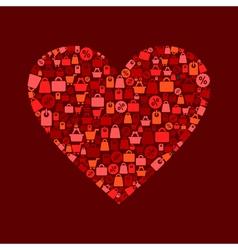 Heart sale vector image vector image