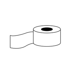 medicine tape bandage roll equipment vector image vector image