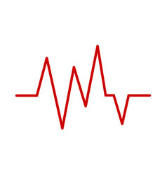 red heartbeat icon vector image