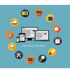 Responsive web design icon vector image