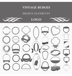 Retro badges design logo Template vector image vector image