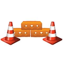 Set of cones and bricks vector