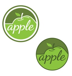 Set of labels with apples vector image vector image