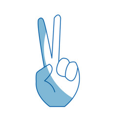 Sign of victory gesture of the hand vector
