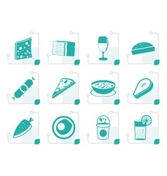 Stylized shop food and drink icons 2 vector