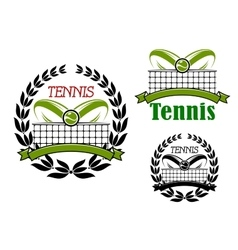 Tennis sport game icons and emblems vector image