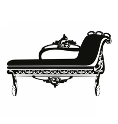 Vintage baroque classic bench vector