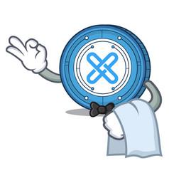 Waiter gxshares coin mascot cartoon vector