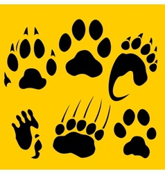 Footprints set - vinyl-ready vector image