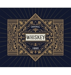Vintage shield for whiskey packing vector