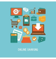 Online banking and business vector