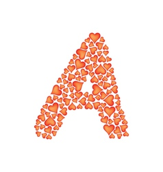 letter a made of valentines vector image