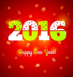 2016 and lights vector image vector image