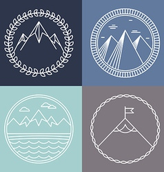 Mountain logos vector