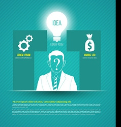 Business concepts with icons can use for infograph vector