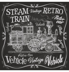 Steam train logo design template vector