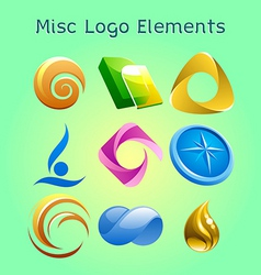Miscellaneous logo elements vector