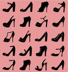 Fashion shoes icons vector