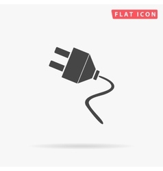 Plugs simple flat icon vector